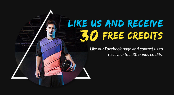 Like Facebook and get 30 bonus credits