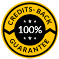 Credits back 100% guarantee